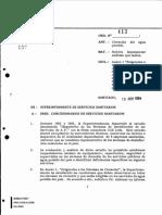 Oficio 413-1994 - Exigencias a Los Sistemas de Cloracion