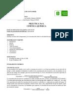 Práctica No.6 Cinética Química
