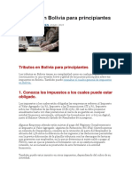 Tributos en Bolivia Para Principiantes