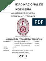 QUÍMICA - LAB 5 - DISOLUCIONES Y PROPIEDADES COLIGATIVAS (CUESTIONARIO)
