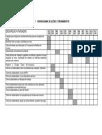 Cronograma de Ações e Treinamentos