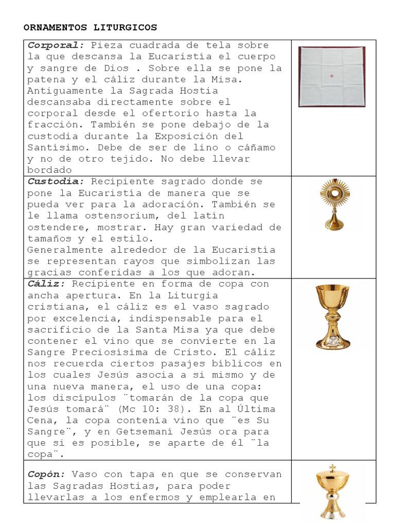 Ornamentos Liturgicos Misa Liturgia Obispo