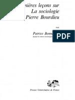 Bonnewitz, Premieres Lecons Sur La Sociologie de Pierre Bourdieu, 2002