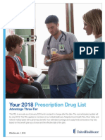 2018 Prescription drug list