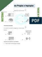 Ficha Fracciones Propias e Impropias Para Tercero de Primaria