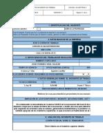 Registro Reporte Accidente de Trabajo Fernando Vidal
