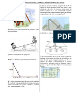 Exercícios de Aplicação Do Teorema de Pitágoras