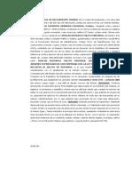 Acta Notarial de Declaración Jurada Provial