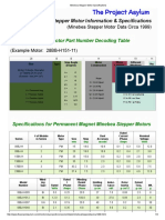Minebea Stepper Motor Specifications