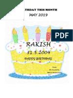 Birthday This Month