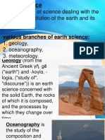introduction of earth and life science