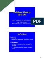 Gds 138 Slide Childhood Obesity