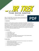 Star Trek the Dice Game Rules v3.3