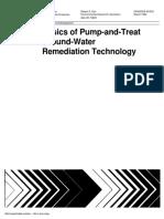 tratamento de água subterrânea contaminada