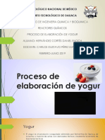 Proceso de Elaboración de Yogurt