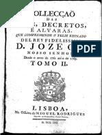Collecção Das Leys, Decretos e Alvarás