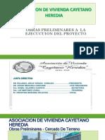 Obras Preliminares a La Ejecucion Del Proyecto