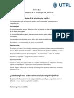 HERRAMIENTAS DE INVESTIGACIÓN JURÍDICA