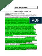 Mental Illness DA