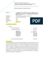 Memoria Descriptiva Acondicionamiento Fac,Educ.
