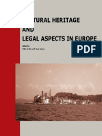 Cultural Heritage and Legal Aspects in Europe BOOK