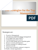Ten Strategies for the Top Management
