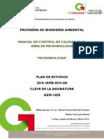 Manual de Control de Calidad en El Area de Microbiologia