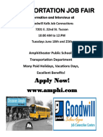 June 2019 AMPHI Job Fair Flyer
