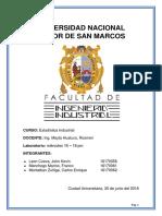 Estadística Industrial - Informe 3 - Leon - Manchego - Montalban