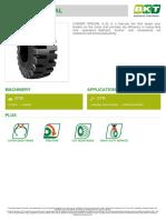 BKT Loader tire Specification