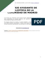 Temario Ayudante Biblioteca Comunidad Madrid