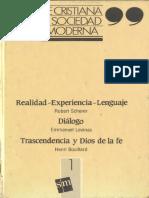 AA.VV. - Fe cristiana y sociedad moderna (t. 1)