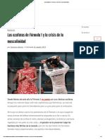 Las Azafatas de Fórmula 1 y La Crisis de La Masculinidad