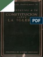 Vaticano II - Comentario a La Constitucion Sobre La Iglesia