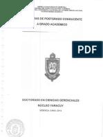 PROGRAMAS Doctorado en Ciencias Gerenciales UNEFA