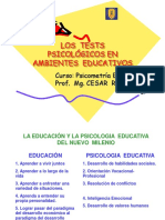 Los Tests en Ambientes Educativos
