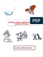 Manual Para Laboratorio de Farmacitecnia i