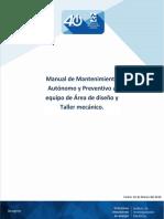 Manual de Mantto Area de Diseño y Taller Mecanico