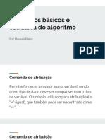 comandos básicos e estruturas de algoritmos