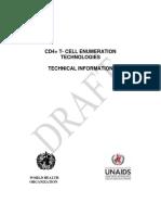 WHO and UNAIDS Draft CD4 Enumerating Technology 2004