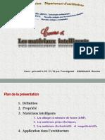 4.Cours. 4. Les Matériaux Intelligents