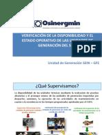 Verificación de La Disponibilidad y El Estado Operativo de Las Unidades de Generación Del Sein (2)