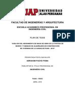 Plan de Tesis de Pachas Uap of of Of