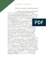 Olvasott Szövegértés - Gardening