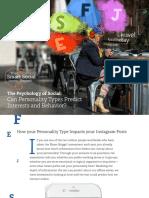 Personality Types Predicting Social Media Behavior Spredfast Smart Social Report