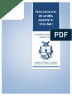 GORE Lambayeque 2016 Plan Regional de Accion Ambiental 2016-2021
