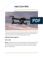 Drone Photography Notes
