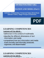 Media and Information Literacy Mil
