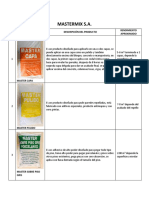 Catalogo de Productos Mastermix Venta Villanueva