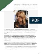 10-06-2019 Claudia Pavlovich pide apoyo a la Federación para atención a migrantes-Tribuna